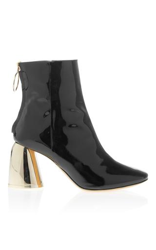 Medium ellery black metallic heel bootie