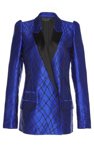 Medium haider ackermann blue 3d shoulder blazer 2