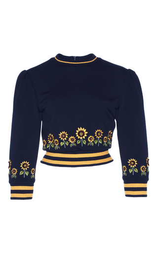 Medium rahul mishra navy sunflower crop top