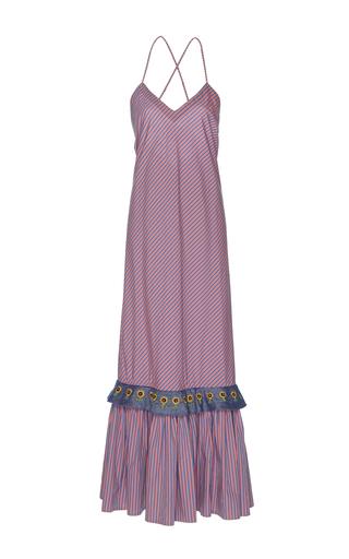 Medium rahul mishra stripe sunset ruffle dress