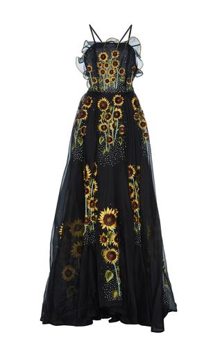 Medium rahul mishra black sunflower gown