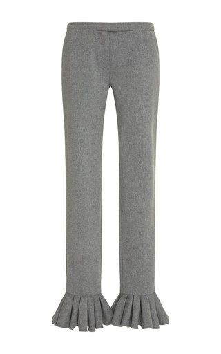 Medium tata naka grey flared trouser with frilly hems