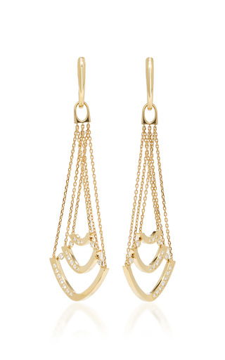 Medium qayten gold x f yellow gold earrings