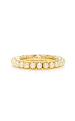 Medium qayten gold ez yellow pearls ring