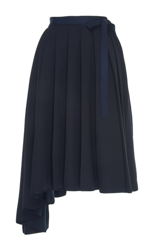 Medium dice kayek black apron asymmetrical skirt