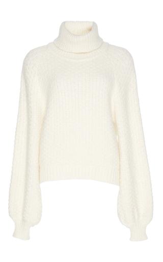 Medium rossella jardini white long sleeve turtleneck sweater
