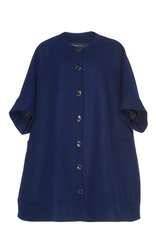 Medium rossella jardini blue short sleeve cape