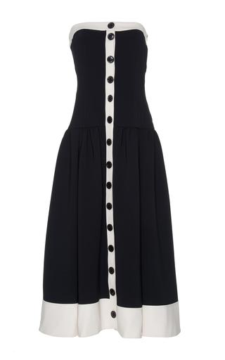 Medium rossella jardini black white strapless midi dress
