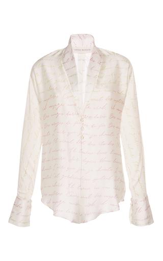 Medium sandra mansour white lapetus crepe satin shirt