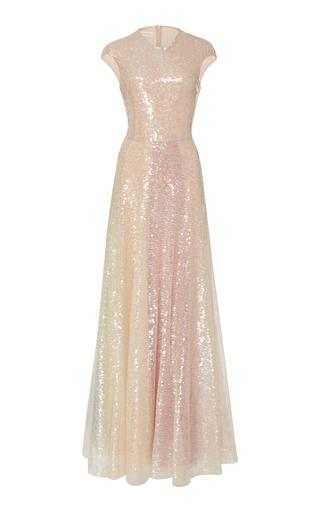 Medium sandra mansour metallic atlas beaded tulle gown