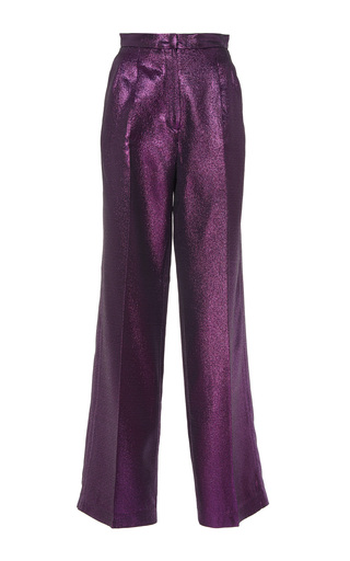 Medium sandra mansour purple narvi metallic pant
