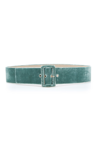 Medium sandra mansour green lysithea thick velvet belt