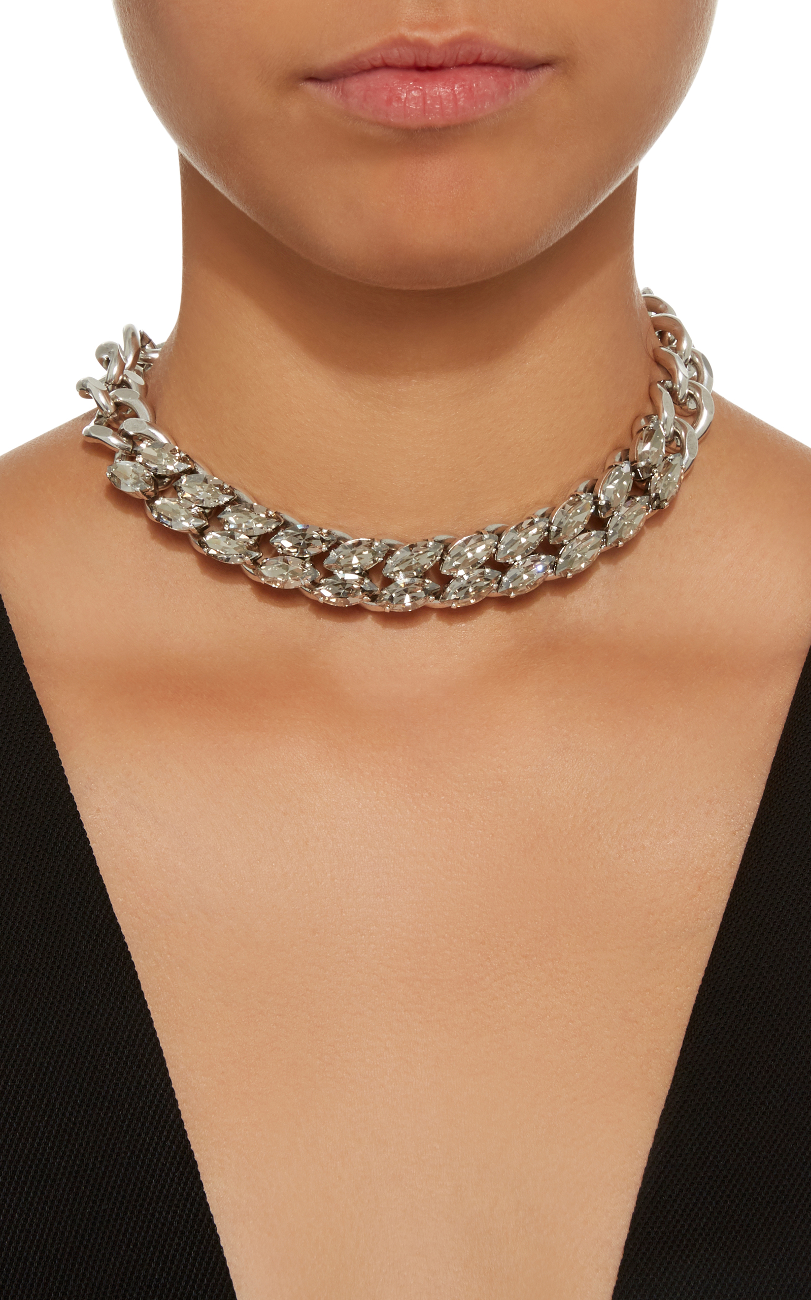 Isabel Marant Crystal leather tie choker eszbun