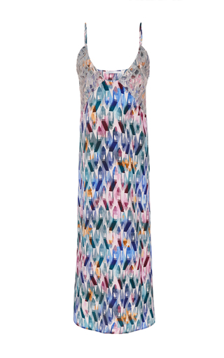 Medium christina economou print printed slip dress