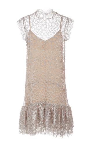 Medium christina economou neutral mika lace dress