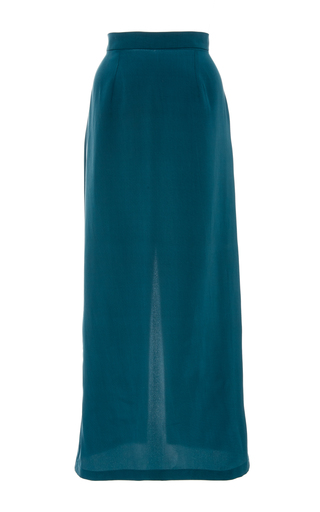 Medium christina economou blue petrol midi skirt