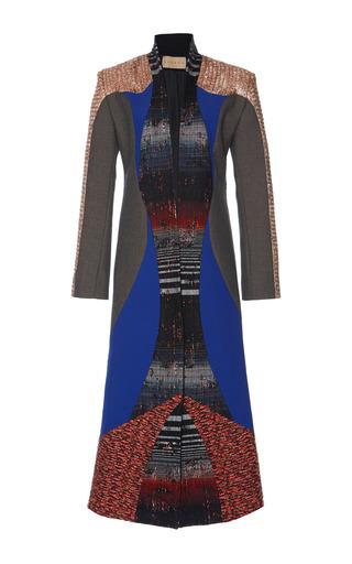 Medium hussein bazaza grey multicolor embroidered coat