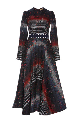 Medium hussein bazaza stripe degrade stripe midi dress