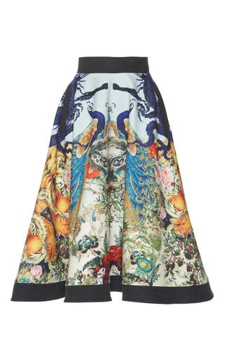 Medium hussein bazaza print printed tea length skirt