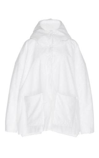 Medium paskal white hooded puffer jacket