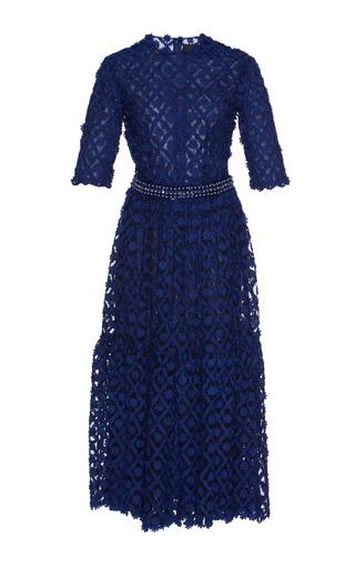 Medium costarellos blue a line lace dress