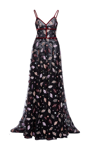 Medium costarellos floral embroidered a line gown