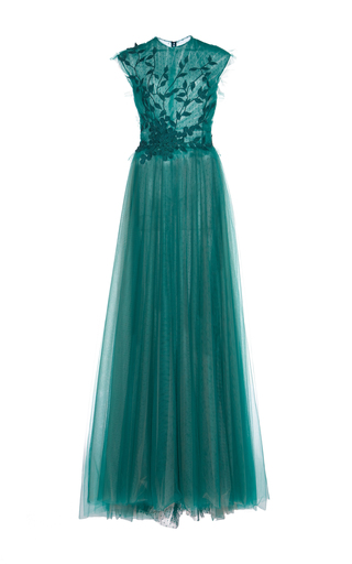 Medium costarellos green fairy embroidered gown