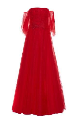 Medium costarellos red fairy off shoulder gown