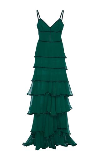 Medium costarellos green sweetheart layered chiffon dress