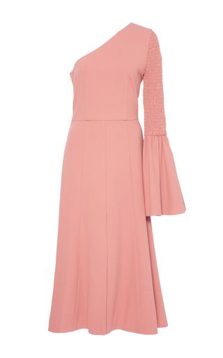 Medium christian siriano pink single bell sleeve dress