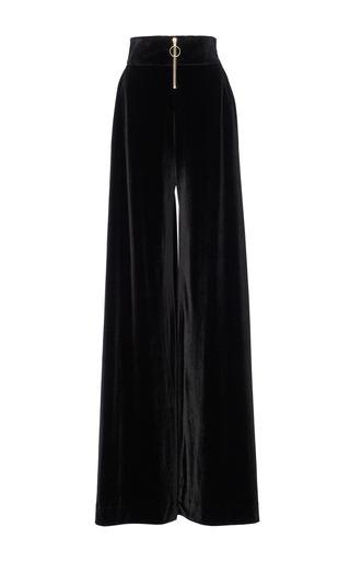 Medium christian siriano black velvet wide leg trousers