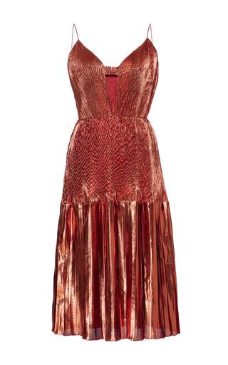 Medium christian siriano metallic metallic pleated dress
