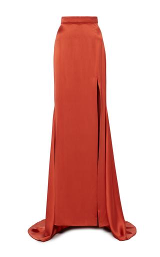 Medium christian siriano orange high waisted satin skirt