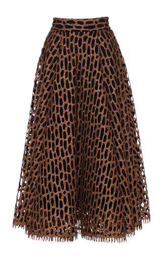 Medium christian siriano metallic metallic honeycomb a line skirt