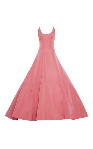 Medium christian siriano pink victorian silk faille gown
