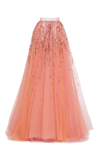 Medium christian siriano pink bead embroidered ball skirt