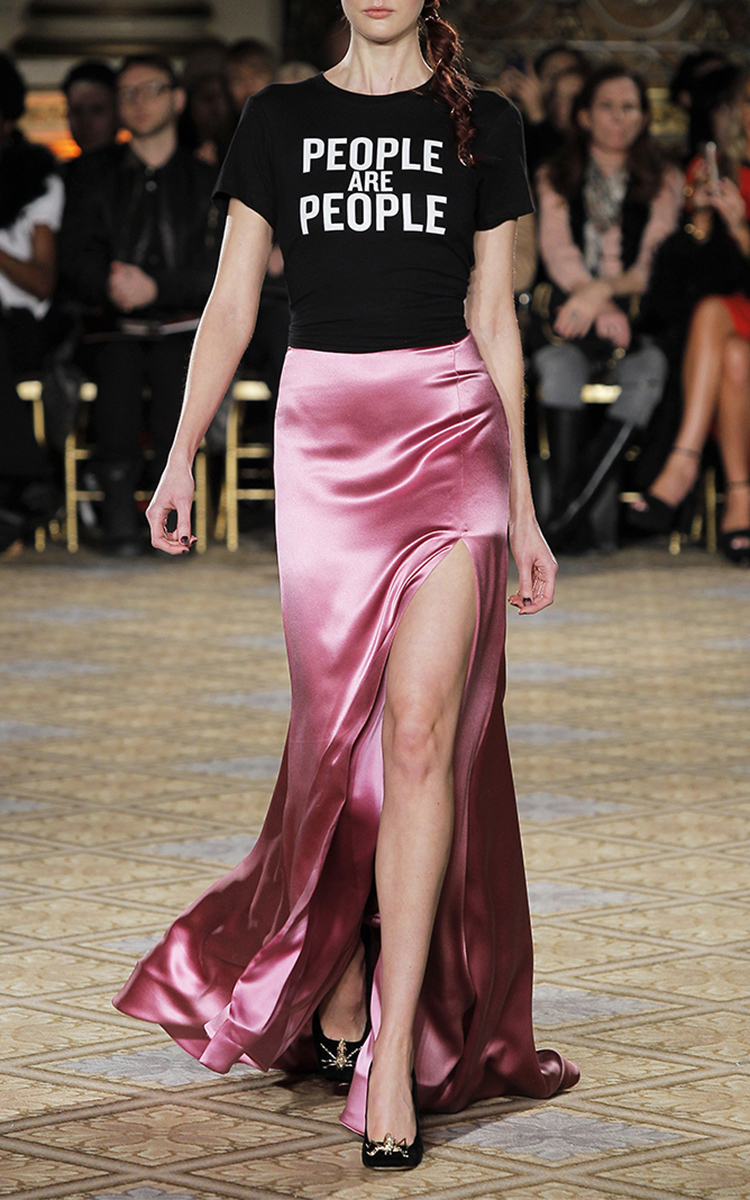 Satin Full Length Skirt by Christian Siriano Moda Operandi