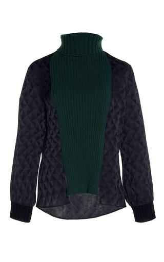 Medium zeus dione green ziria paneled sweater
