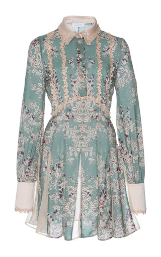 Medium zuhair murad print printed shirt dress
