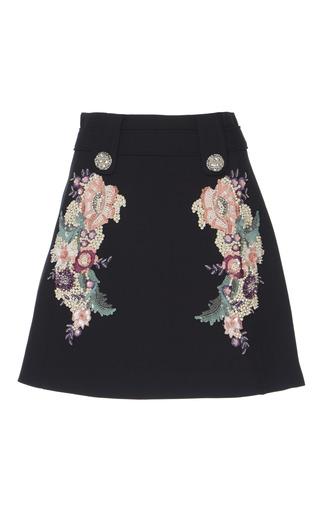Medium zuhair murad black multicolor embroidered mini skirt