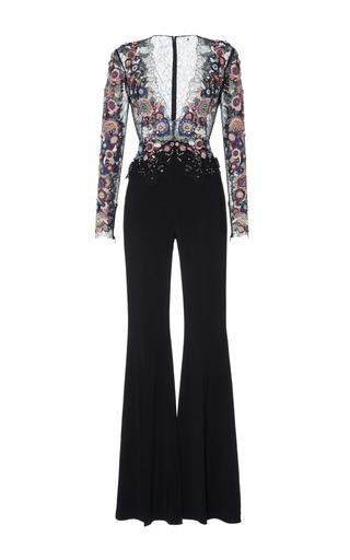 Medium zuhair murad black sequin embroidered jumpsuit