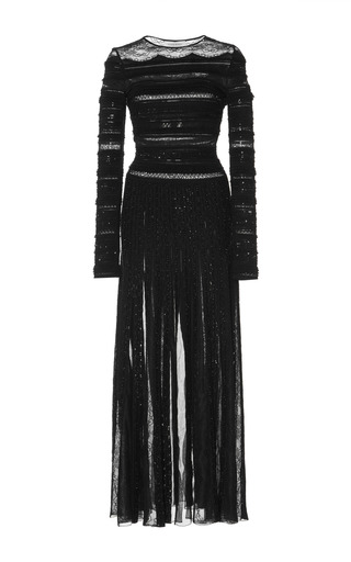 Medium zuhair murad black bead embroidered midi dress