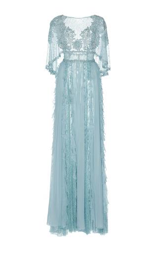 Medium zuhair murad blue cape chiffon gown