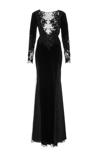Medium zuhair murad black embroidered mermaid gown