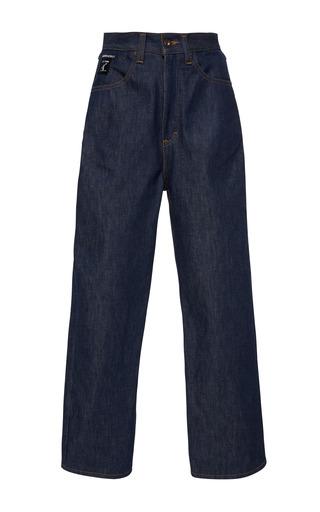 Medium cynthia rowley blue cropped denim jeans