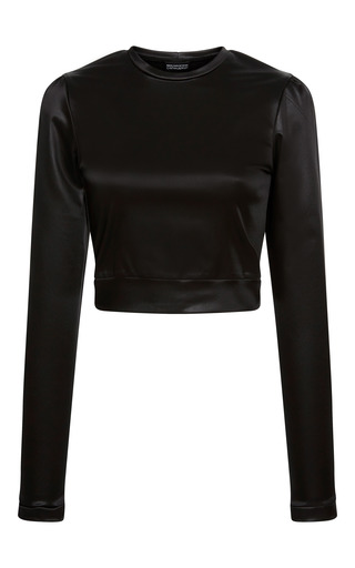 Medium cynthia rowley black long sleeve satin top