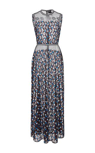 Medium cynthia rowley black embroidered mesh dress