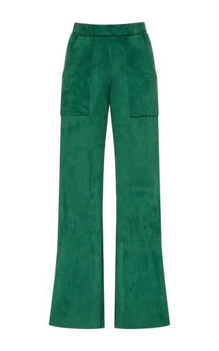 Medium cynthia rowley green stretch suede cargo pant