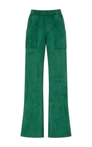 Medium cynthia rowley green stretch suede cargo pant