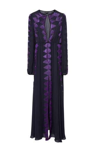 Medium cynthia rowley purple georgette maxi dress